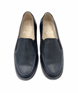 Hoo Double Gore Navy Leather Loafer 2279
