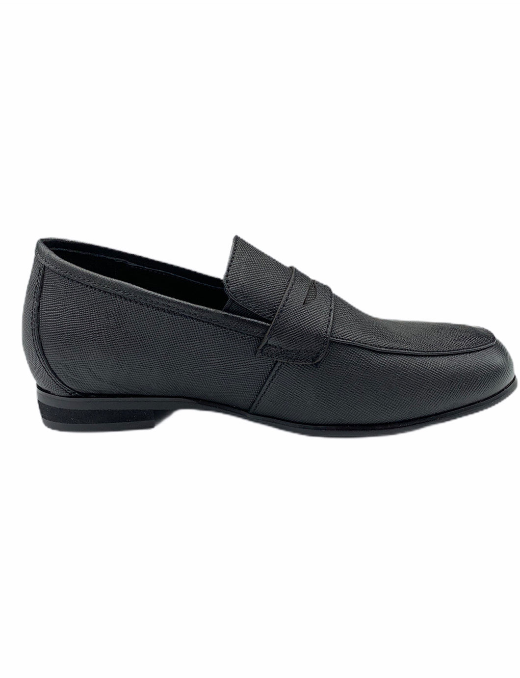 Pardoo Black Texture Penny Loafer 1878