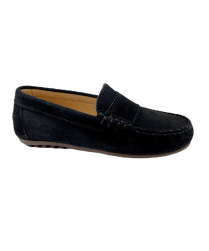 LMDI Black Suede Penny Loafer