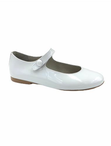 Brunellis Light Grey Patent Mary Jane