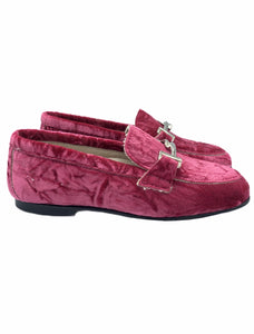Hoo Pink Crushed Velvet Chain Loafer 3181