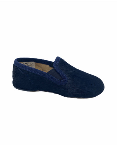 Pepe' ES X LS Navy Blue Pony Hair Smoking Slip On 00280
