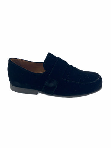 Pepe' Black Velvet Slip On Loafer 1500