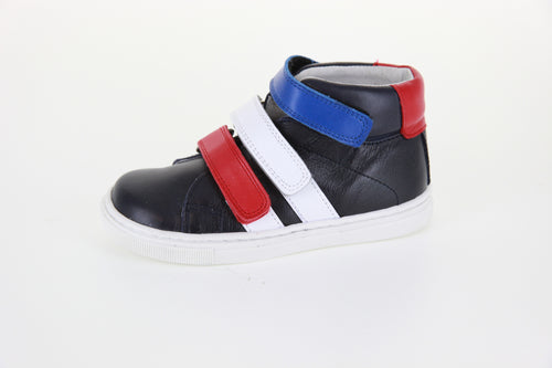 Hoo Velcro Sneaker Black/Navy/Red
