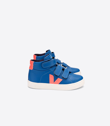 Veja Indigo Blue Orange High Top Sneaker