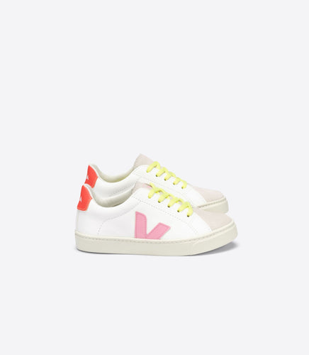 Veja White Pink Red Neon Yellow Lace Sneaker 2487