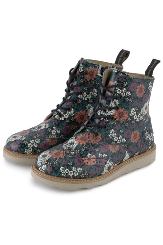 Young Soles Sidney Floral Printed Leather Bootie