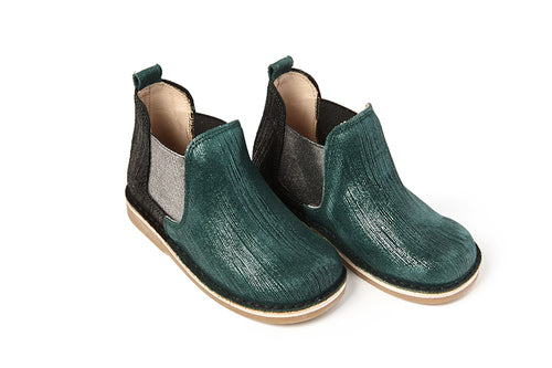 Sonatina Spice Hunter Green Bootie