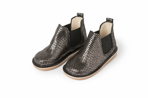 Sonatina Spice Black Silver Spotted Booties