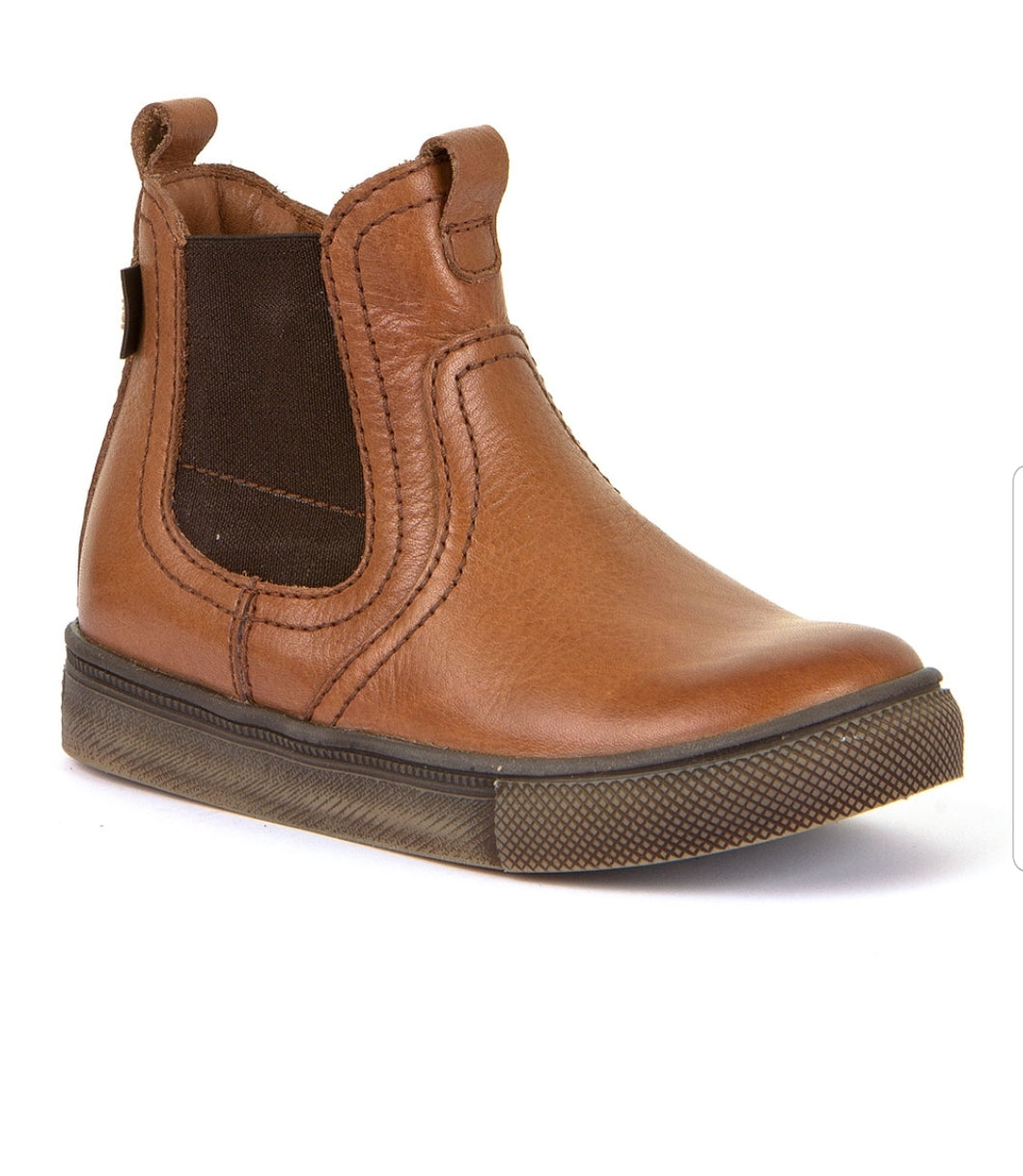 Froddo Cognac Waterproof Side Zipper Boot G3160113
