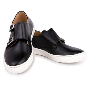 Zubii Black Leather Monk Strap Sneaker 862