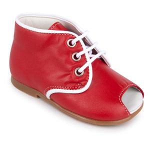 Zubii Red Open Toe Lace Up Shoes 380020