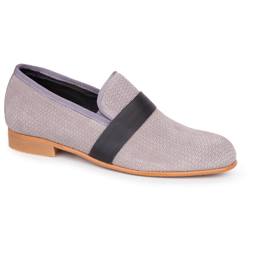 Andanines Grey Textured Dress Shoe 201775