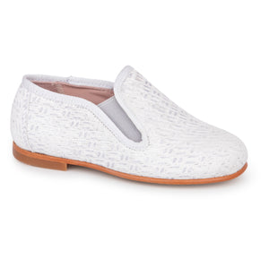 Geppettos Light Grey Weave Smoking Slip On  137037