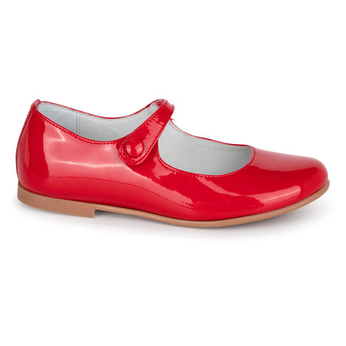 Geppettos Red Patent Leather Velcro Mary Jane G554V
