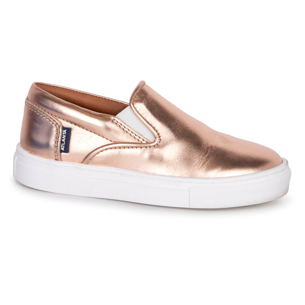 Atlanta Rose Gold Slip On Sneaker