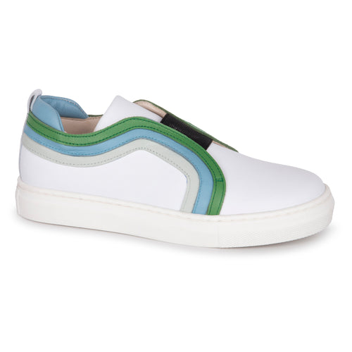 Sonatina White Green Timothy Sneakers