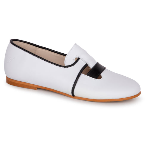 Sonatina White Black Miles Slip On