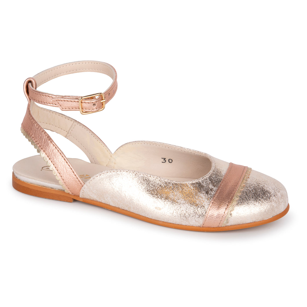 Sonatina Gold Pink Swan Ankle Buckle
