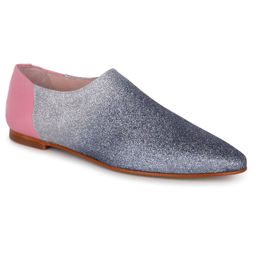 Geppettos Navy Silver Glitter Ombre Slip On