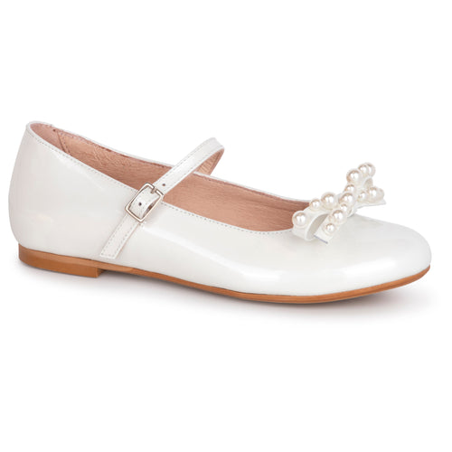 Oca Loca Pearl White Patent Mary Jane 8045