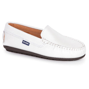Atlanta Mocassin White Shimmer Loafer 14228