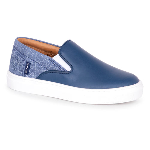 Atlanta Mocassin Ocean Blue Slip On Sneaker 13923