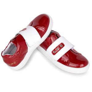 Blublonc Red Patent Velcro Sneaker A5011