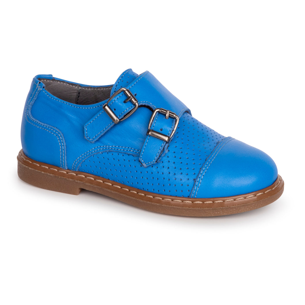 Blublonc Blue Double Buckle Dress Shoe 6