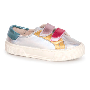 Pepe' Multi Colored Metallic Velcro Sneaker 00106