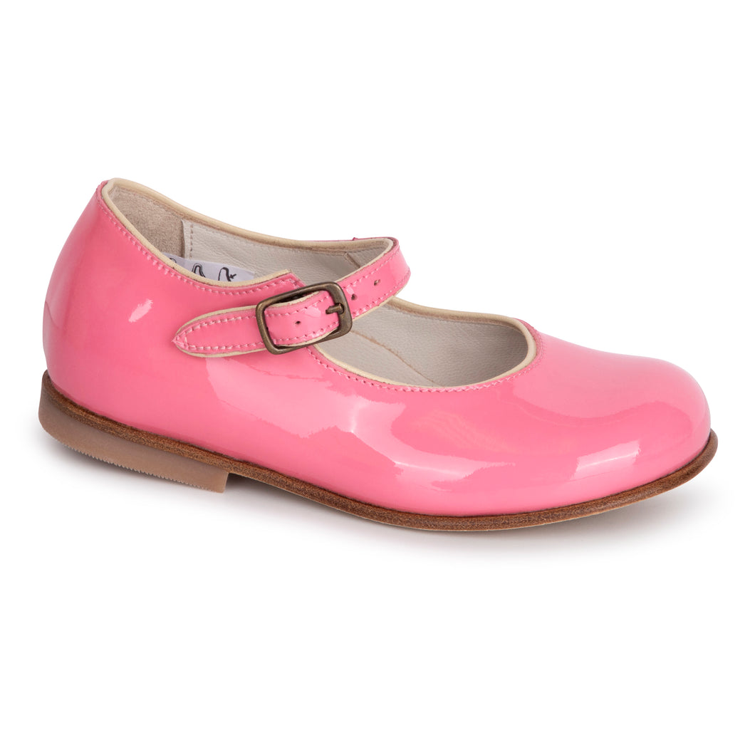 Pepe' Bubblegum Pink Patent Leather Buckle Mary Jane 1216