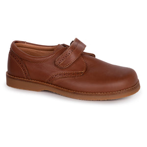 TNY Tan Velcro Strap Oxford 14119