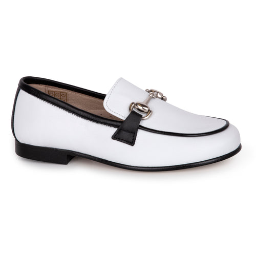 Hoo Black White Chain Loafer