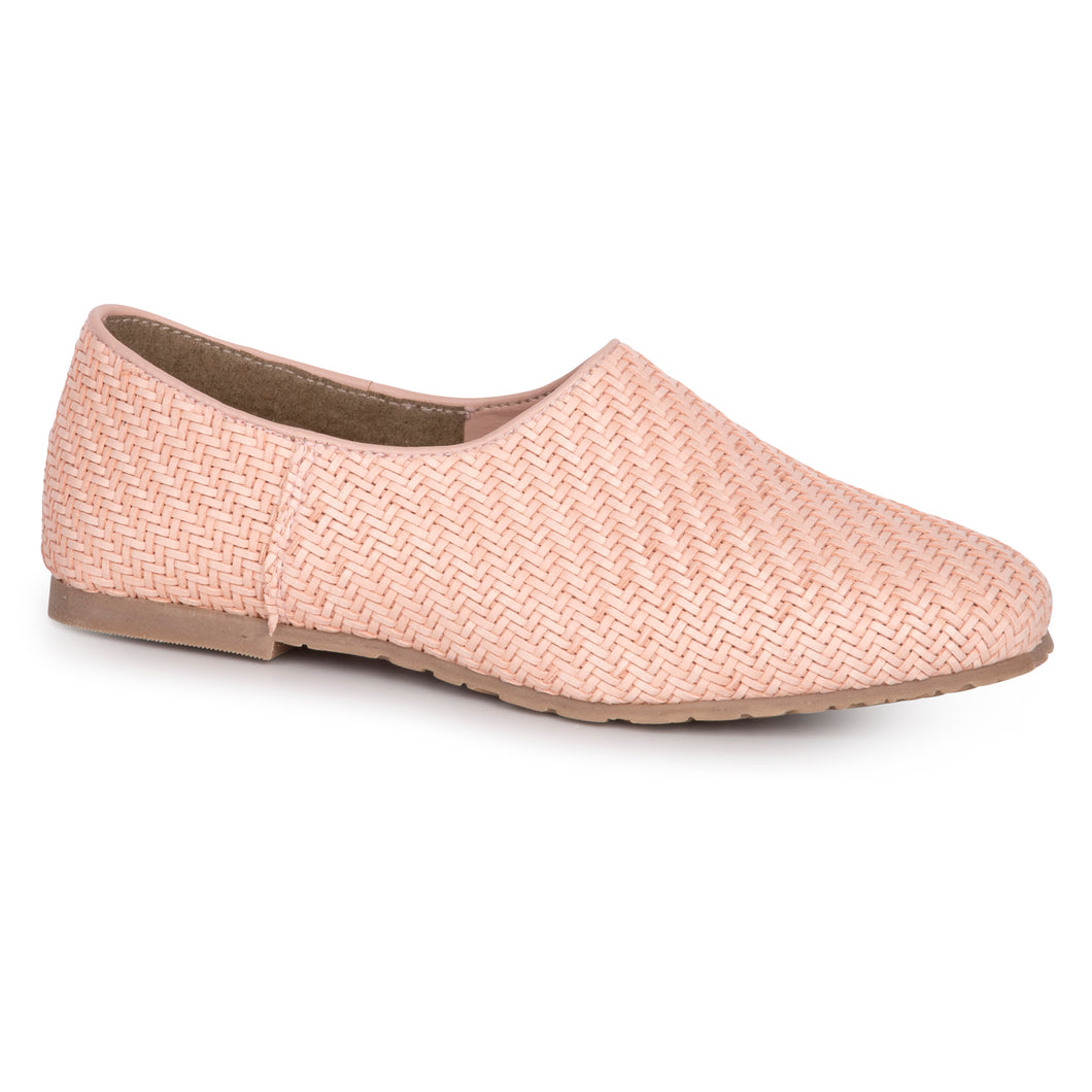 LMDI Pink Weaved Leather Slip On SS2031
