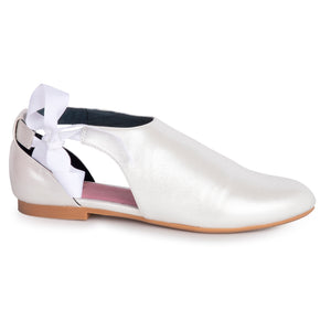 Esporre White Metallic Dress Shoe