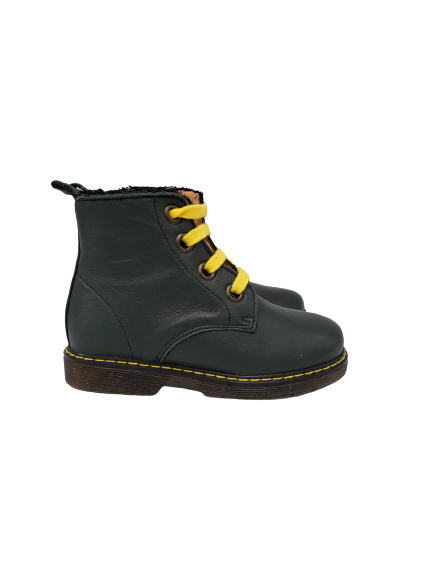 Confetti Green Yellow Combat Boot 8217