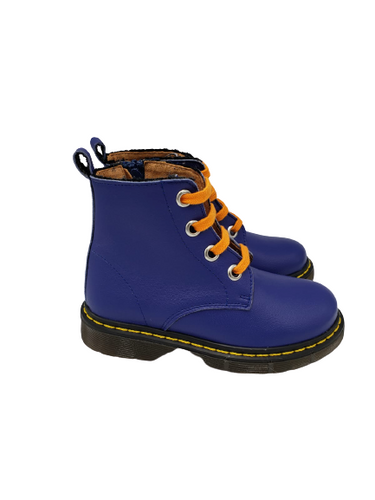 Confetti Blue Orange Combat Boot 8217