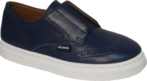 Atlanta Blue Oxford Slip On Sneaker n529