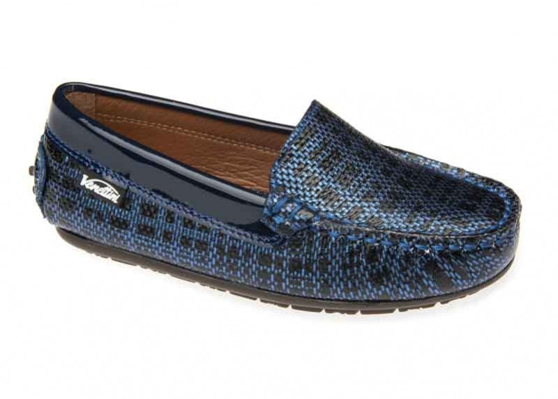 Venettini Gordy Blue Tech Leather Loafer Moccasin M0014