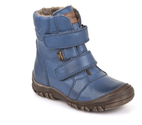 Froddo Blue Velcro Fur Bootie Waterproof