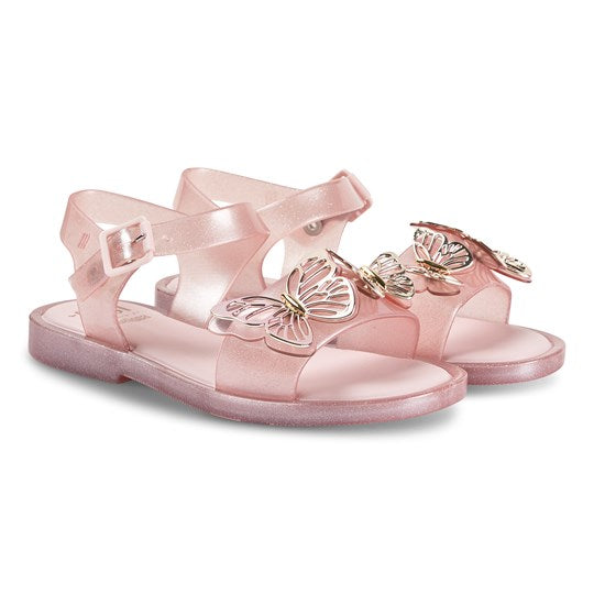 Mini Melissa Little Girls Pink Butterfly Sandal