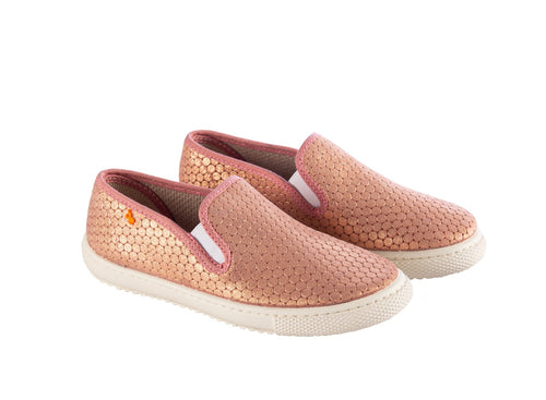 Vulladi Pink Metallic Slip On Sneaker 7301237