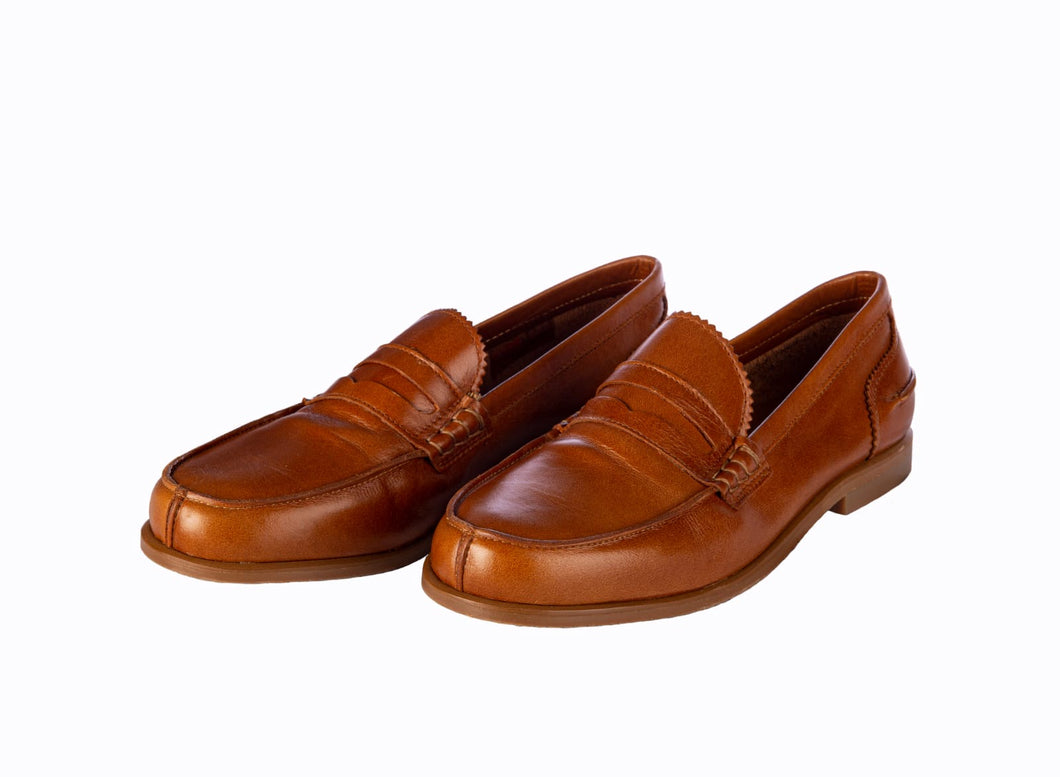 Papanatas Brown Leather Loafer 7457. ***Final Sale