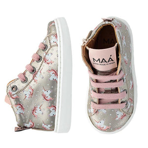 Maa Unicorn Lace Up Side Zipper Sneakers C295