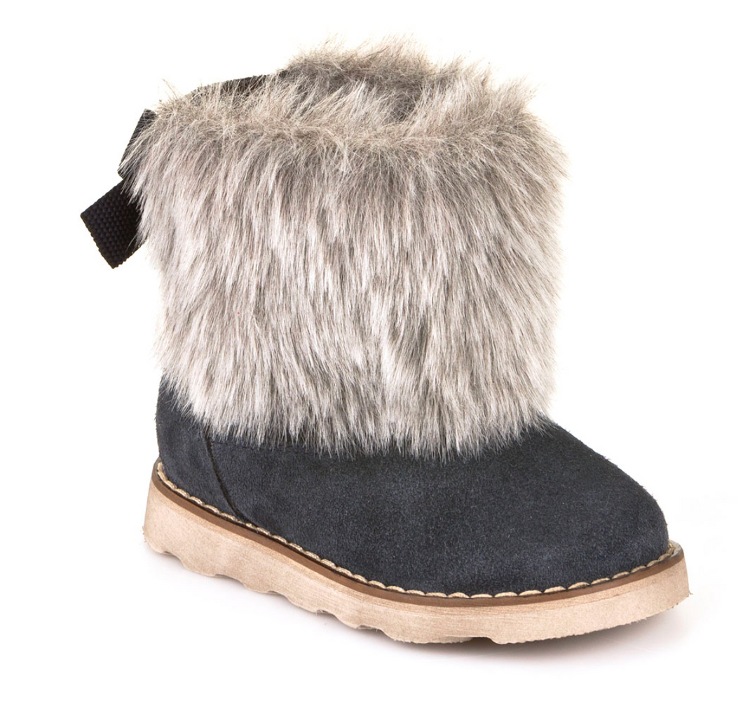 Froddo Dark Blue Suede Fur Boot