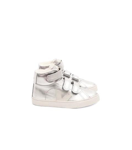 Veja Silver Fur Lined High Top Sneaker 081218