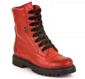 Froddo Tex Red Lace up Side Zipper Waterproof Boot G3110117