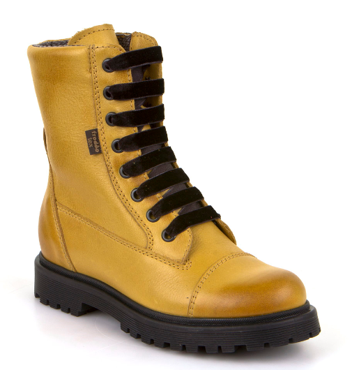 Froddo Tex Yellow Lace up Waterproof Boot G3110117