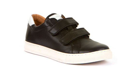 Froddo Black Leather Double Strap Sneaker G4130076