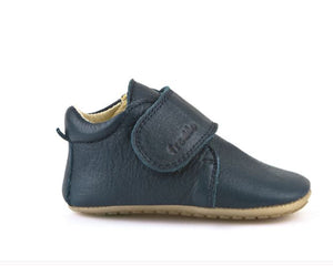 Froddo Navy Leather Velcro Soft Sole Pre Walker G113005
